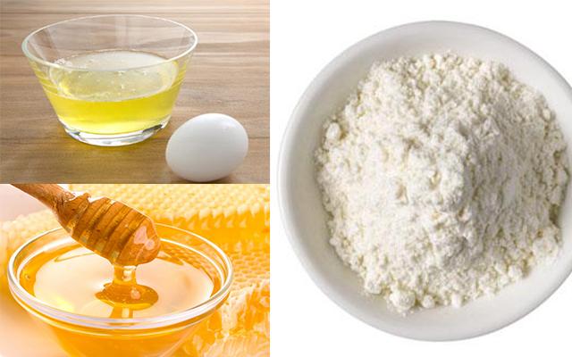 Image result for trứng gà, bột mì và mật ong